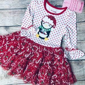 NWT Nannette 2T Penguin holiday dress